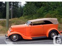 1932 Ford 2 door Phaeton. All steel with glass fenders,