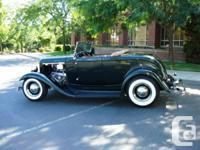 1932 Ford Roadster Dark Green Metallic/Tan Leather  One