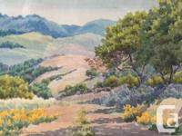 Lovely Watercolor Dated 1934 by Winona W. Burgiu in
