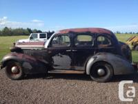 An extremely solid automobile prepared for repair. This
