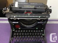 1936 Underwood 11 Champion . Model 6 typewriter in very