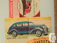 Two Vintage 1938 Chevrolet and Buick ads from the