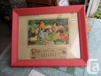 THIS IS A FRAMED CALENDAR OF THE QUINTUPLETS IN 1939 AT