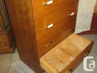 THIS FOUR DRAWER IS 30 INCHES WIDE, 19 INCHES DEEP & 41