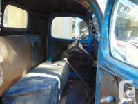 Original looking Dodge truck. Flathead 6 is seized, but