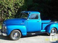 Chevrolet 1947, pickup, 5 glass, 3 rate specification