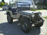 1947 Jeep Willys CJ2A 4x4. Completely restored