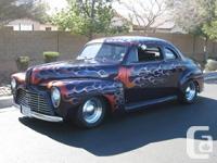 """1947 Mercury Flamed Street Pole Coupe -4"""" Sliced,"""