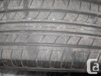 These tires are in good condition, only used one summer