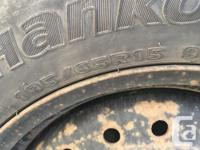 Hancook winter tires on rims only used for 2 seasons-