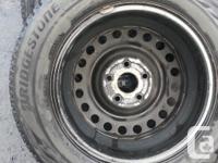 Set of 4 195/65R15 Bridgestone Blizzak WS80 91H winter