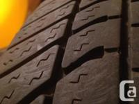 Set of 4 motomaster 195/70R14 all season tires with