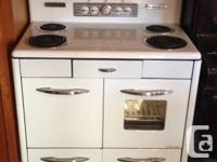 Circa 1950's Clare Gem electric stove in great