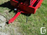 Colour Red Near new Allstate utility trailer