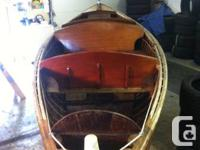 Antique rare wood boat 19 foot 1951 dis-pro boat, with