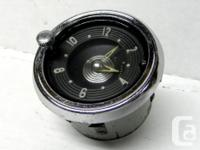 This is a GM optional in-dash Chevrolet car Clock for