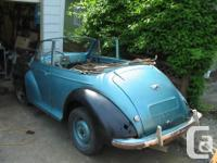 Make Morris Model Minor Year 1954 Colour blue Trans