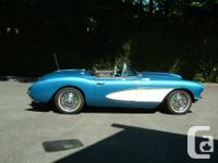 Make Chevrolet Model Corvette Year 1956 Colour blue