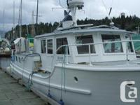 1957 36' Wooden Boat built in the Maple Bay area is for