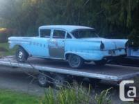 I have a 1957 Ford Meteor 4 door task that's well on