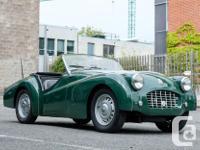 Make Triumph Model TR3 Year 1957 Colour green kms