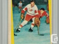 "1959 - 60 GORDIE HOWE # 48 Topps ""Action Image"" Card."