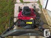 Self propelled, rear wheel powered, No bag, Starts &