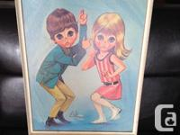 vintage print by EVE. cool 1960s graphics. Original