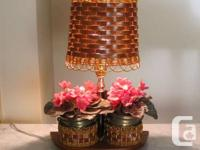 Marketing a Vintage Wood Flower Pot Lamp.  Unusual and