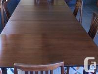 Classic retro sixties walnut dining set. 10 piece (plus