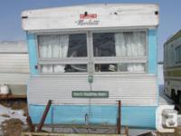 Vintage 1960 Marlette park model trailer. 8' wide and