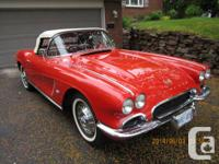 I have for sale a 1962 Corvette. This vehicle is