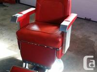 Used, This 1962 barber chair is a very rare find. It is in for sale  British Columbia