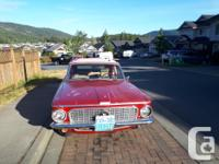 Make Plymouth Model Valiant Year 1963 Colour Red Trans