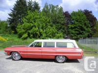 1964 CHEV 4 Door, 327 V8 Electric motor, Automobile,