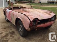 Make Triumph Model TR4 Year 1964 Colour Red'ish 1964