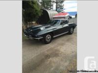 1965 corvette coupe. Survivor with 69000 original