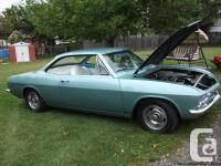 """1965 Corvair 283, 350 turbo, 9"""" Ford rearend, 4"""