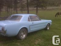 1965 mustang six cyl floor shift automatic runs great
