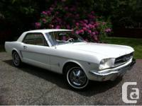 Selling a collector 1965 Ford Mustang. It has a 289 v8,