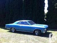 1966 Chevelle SS, true SS 4 speed car, with a 454 hi