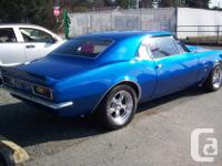 Make Chevrolet Model Camaro Year 1967 Colour Blue kms