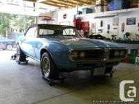 1967 Pontiac Firebird, very clean, runs wonderful,
