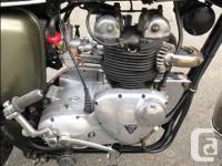 Make Triumph Model Tiger Year 1967 kms 11800 1967