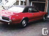 Make Mercury Model Cougar Year 1968 Colour Red kms