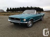 Hi,  I am selling a 1968 Mustang Convertible, it is in