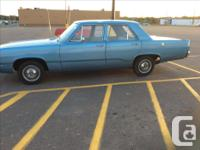 Make Plymouth Model Valiant Year 1968 Colour Blue kms