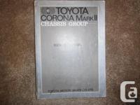 """Toyota Corona Mark II Chassis Group Repair Manual"""
