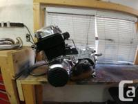 Freshly rebuilt motor including new piston rings,