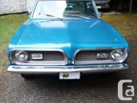 Make Plymouth Model Barracuda Year 1969 Colour blue